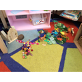 Story telling scenery created by the children. The language that was used was fabulous!