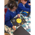 We learnt about space and created our own galaxy.