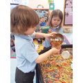 Enjoying filling and emptying using pasta and rice