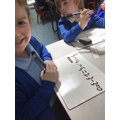 We practise solving subtraction number sentences.