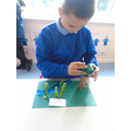 Alfie made a bamboo forest for pandas.