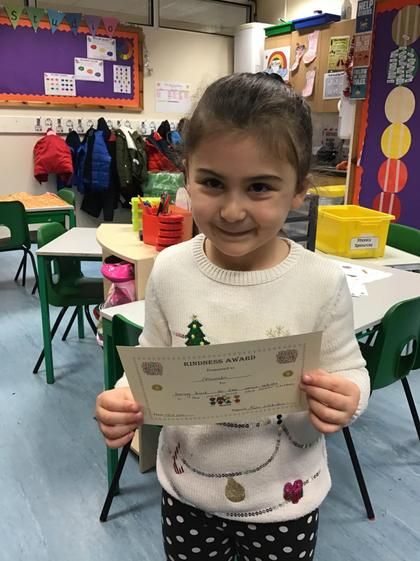 Leoreada for being kind and helpful to the adults in Giraffe Class this week.