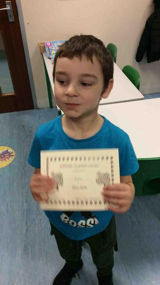 Jayce for working hard with his writing and maths this week.