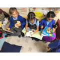 Sharing books in the reading corner