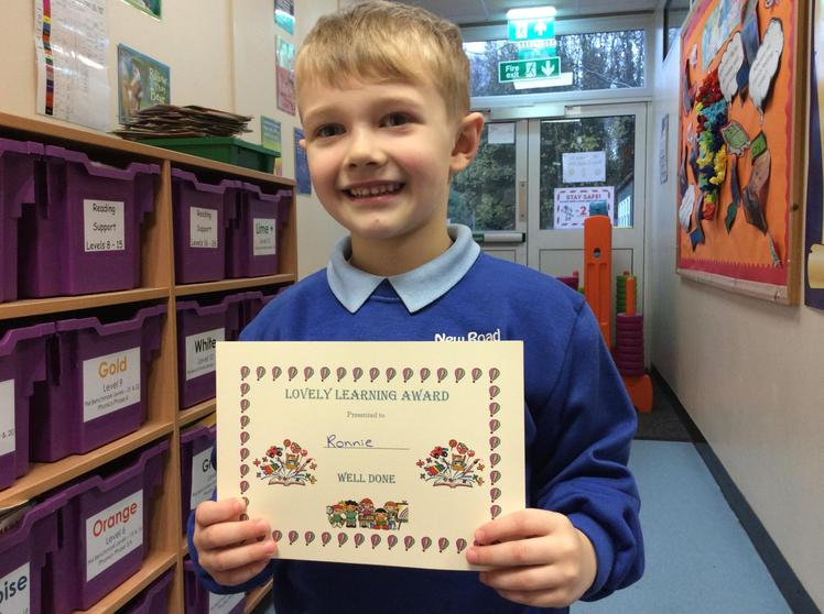 Week 5 - Ronnie O'Connell - Lovely Learning Award