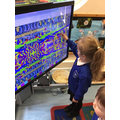 Samira used different tools on colour magic to make a lovely picture