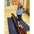 Ava Lilly shows good balancing skills in P.E