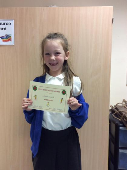 Week 6 - Elsie-Anna for trying her best when writing independently.