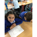 Retelling how a dishwasher works using a mind map.