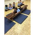 Rebecca explores different ways to move in PE