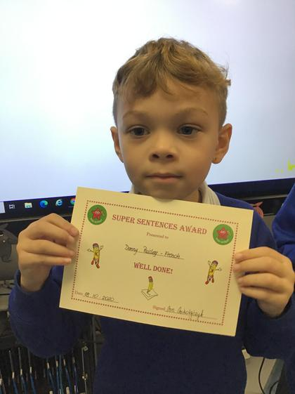 Danny, you wrote fantastic sentences in your English writing. Well done:)