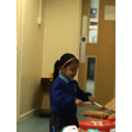 Khadija loved exploring the instruments and singing to herself.