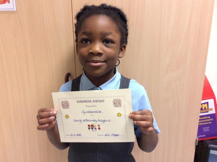 Oyin Akintola - A Kindness Award