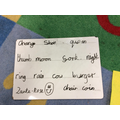Phonics - Writing a word for several digraphs.