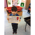 Well done Eli outstanding learning this week
