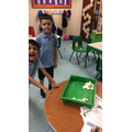 We researched information about Antarctica and created our own igloos from sugar cubes.