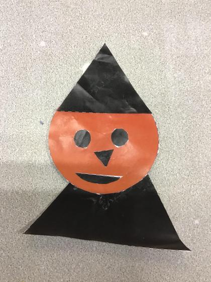 Well done Molly-Rose! You stayed focused to finish your witch.