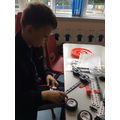 Alfie used Meccano to design his space buggy