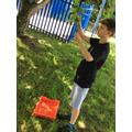 Alfie collecting nature