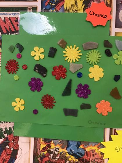 Well done Chance for creating a super collage with the stickers.