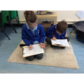 Layla and George working hard on their Assertive Maths