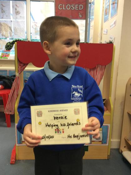 Well done Kenzie, for  helping your friends this week.