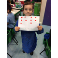 We have been printing and painting to practice our doubling.