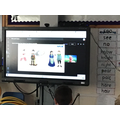 We watched a Science assembly about metrology (measuring)