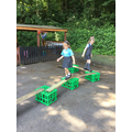 We created an obstacle course.