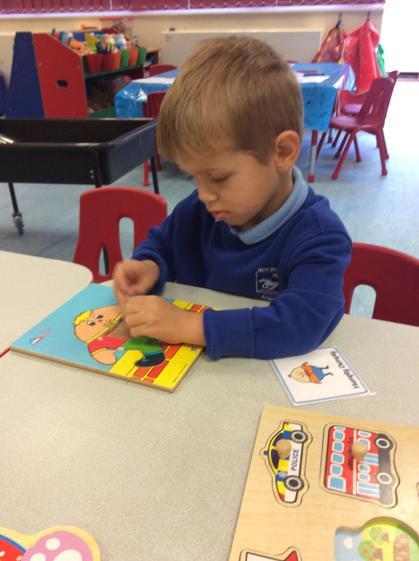 Well done Dominic, fantastic concentration to complete the humpy dumty puzzle