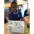 We've been working hard on division using bus stop method.