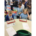 Music time - the children have enjoyed following patterns.