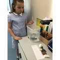 We used a pipette with  water to check if the rocks are permeable or impermeable.