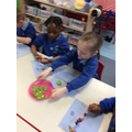 We  used a variety  of fruits to make our fruit Kebabs.