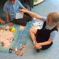 We have also been learning how to code Bee bots to travel around a map.
