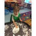Writing in foam