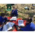 We enjoyed drawing outside, as well as having our tasty treat.