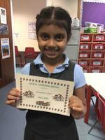 week 4- 1.10.20 Amanpreet earned her certificate for lovely learning.