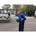 Completing the handball juggle challengeCompleting the handball juggle challenge