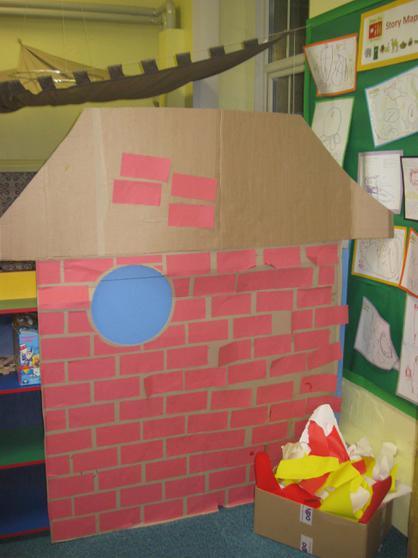 The third little pig built a house of bricks.
