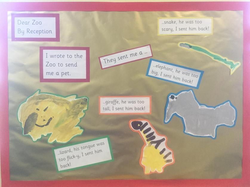 The start of Receptions Dear Zoo Story