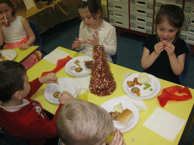 and had lots to eat at our party tea!