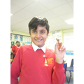 Aaron enjoyed using chocolate in our experiments.