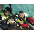 Jack and Charlie used special knots in their den.