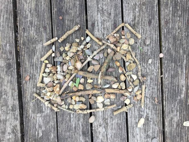 Sam's awesome Andy Goldsworthy inspired art!
