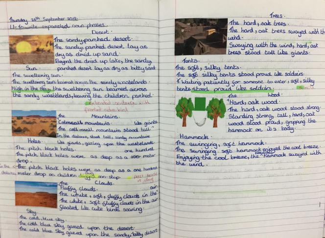 Practising extended sentences