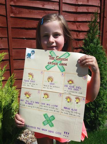 Amelia's amazing road safety poster!