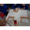 We used blocks to create a 3D map