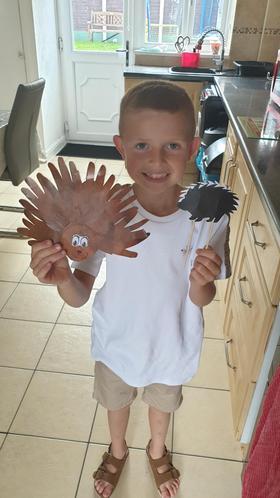Jaxon's spectacular hedgehogs!