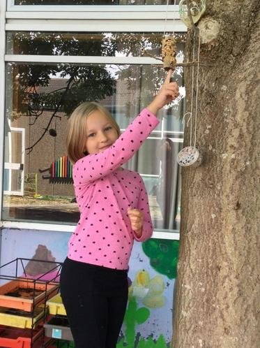 Lena's final beautiful bird feeders!